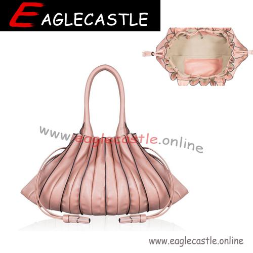 2021 New Fashion Korean Style Creative Stripped One-shoulder Pleated Bag Crossbody PU Handbag Female