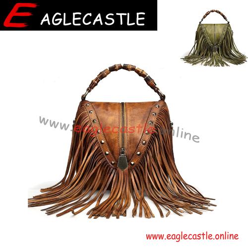 2021 Women's Retro Tassel Bag Shoulder Diagonal Braided Handbag Women's Bag Shoulder Bag