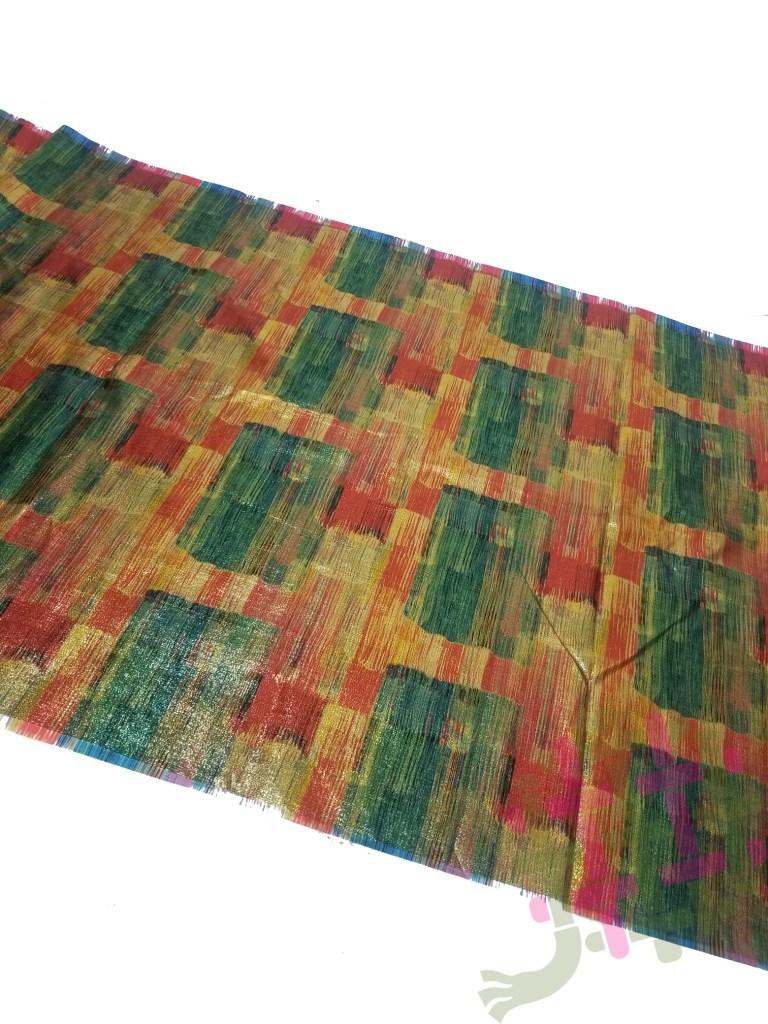 Shiny Golden Satin Digital Print Fabric For Women Clothing(3 Color Option)