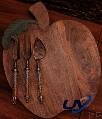 Apple or pear with 3 serving knifes