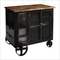Wheeled Cabinet Bar Trolley