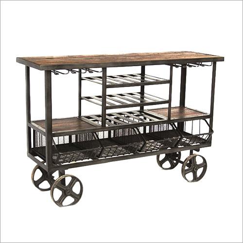 4 Wheel Bar Trolley