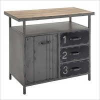 3 Door Grey Metal Industrial Cabinet