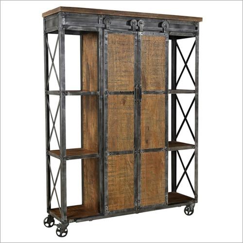Iron Wooden Storage Cabinet