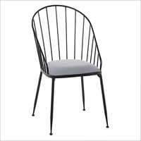 Wooden and Metal Wrought sheet Chair