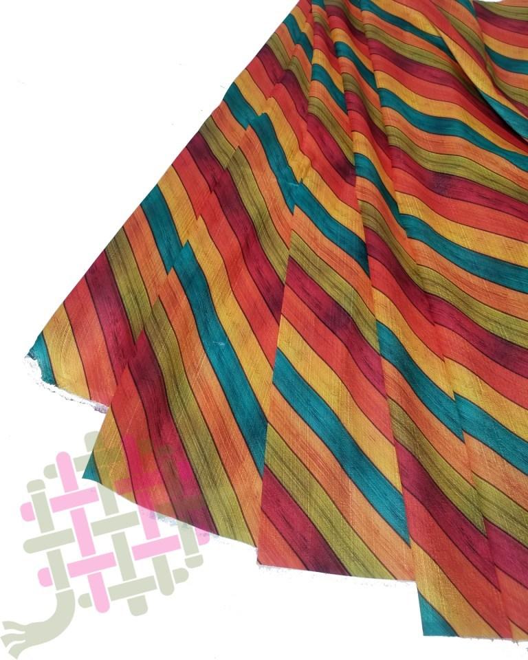 Fancy Malbari Silk Digital Print Fabric