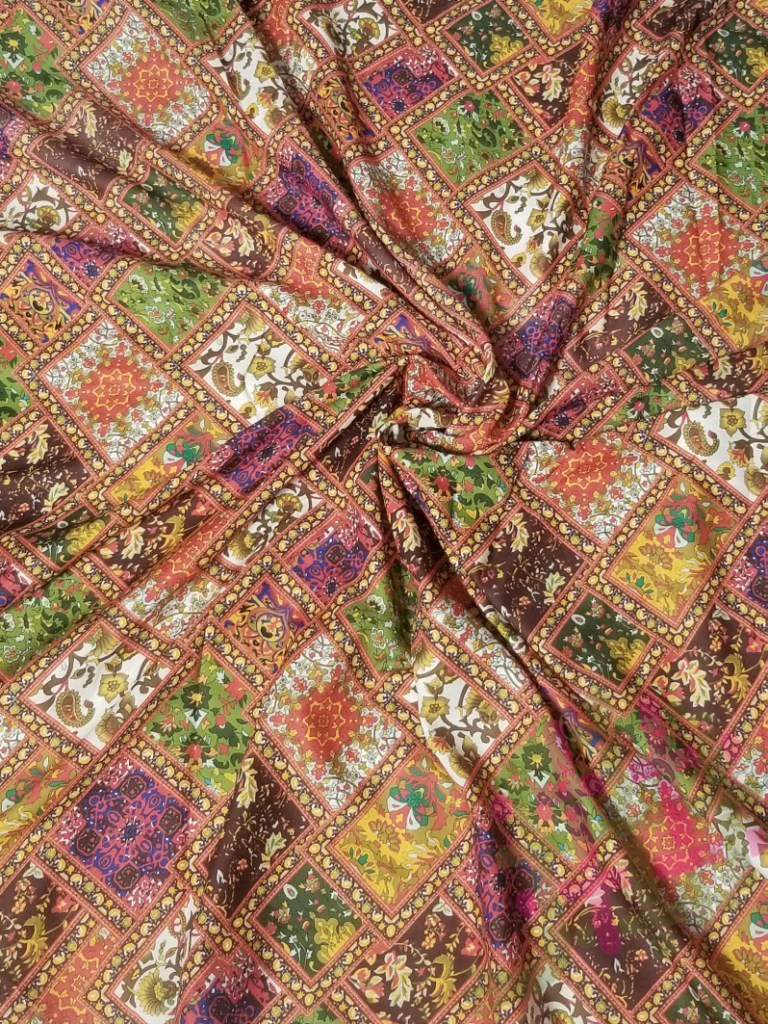 Fancy Galaxy Cotton Digital Print Fabric For Women Clothing (2 Color Option)