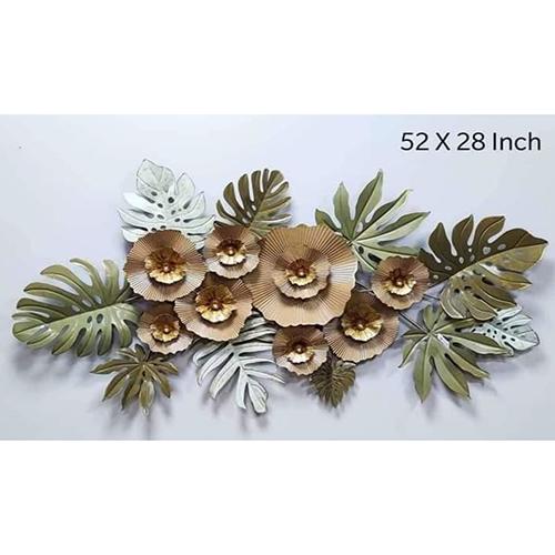 52 INCH Metal Flower Leaf Wall Art
