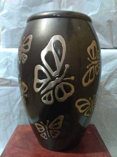 TEA LIGHT BROWN BUTTERFLY URN FOR HUMAN ASHES FUNERAL SUPPLIES