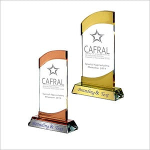 8mm Swirl Crystal Glass Trophy