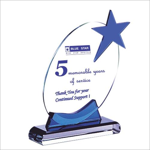 Brilliant Star Crystal Glass Trophy