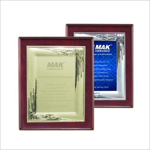 Metal Plate Memento Certificates