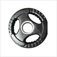 Black Rubber Weight Plate