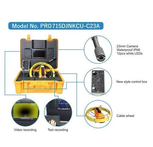 12V Drain & Pipe Inspection Camera