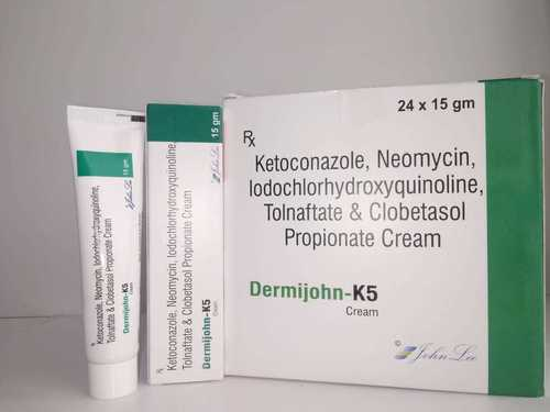 ketoconazole, neomycin sulphate ,iodochlorhydroxyquinoline, tolnaftate & clobetasol propionate cream