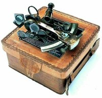 Kelvin Hughes London 1917 Vintage Maritime Brass Nautical Sextant With Leather Case