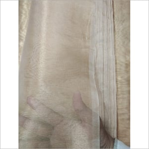 Width 44 Inch Length 25-30 Gold Color Pure Tissue Silk