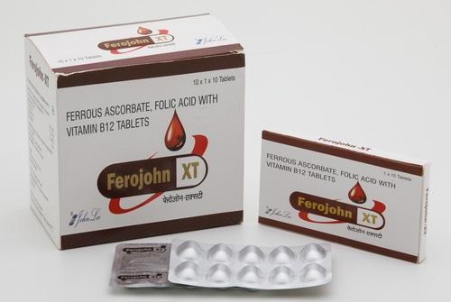 Ferrous  Ascorbate  eq. to Elemental Iron 100 Mg + Folic Acid 1.5 Mg + Vitamin B12.5 Mg