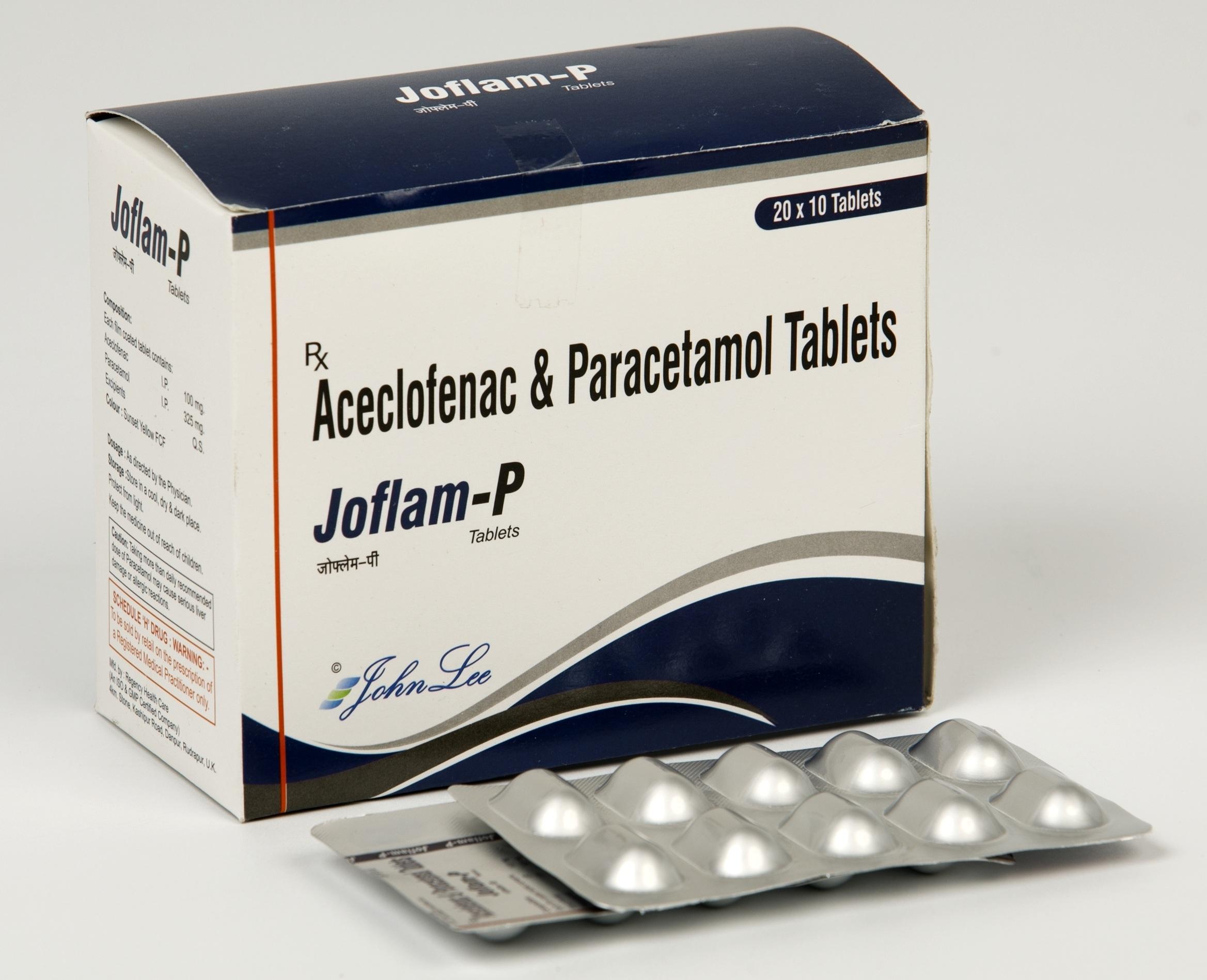 Aceclofenac IP 100MG + Paracetamol IP 325MG