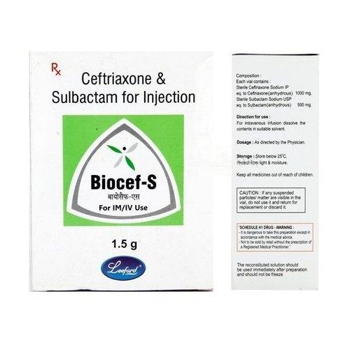 BIOCEF S 1.5GM INJECTION (CEFTRIAXONE 1000MG + SULBACTAM 500MG)