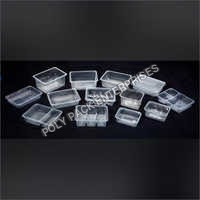 Transparent Disposable Food Tray