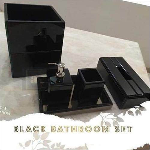 Black Colored Bathroom Set