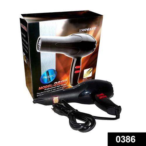0386 1500 Watts Professional Hair Dryer 2888 (Black)