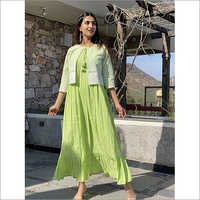 Ladies Sifli Jacket Dress With Cotton Dobi Bottom