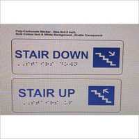 Acrylic Stair Braille Signage