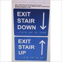 Down Stairs Braille Signage