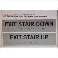 Acrylic Braille Signages
