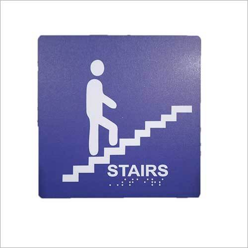 Acrylic Stairs Braille Signage