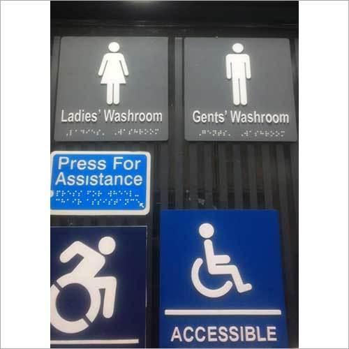Washroom Braille Signage