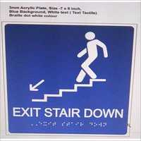 Exit Stairs Braille Signage