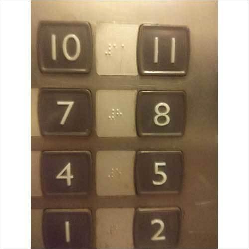 Elevator Numeric Braille Labels