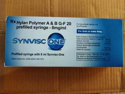 Hylan Polymer A&B G-F 20 Prefilled syringe 8mg/ml