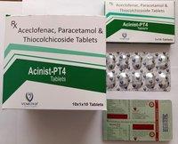 Aceclofenac+Paracetamol+Thiocolchicoside  Tablets