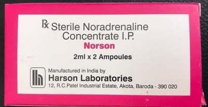 STERILE NORADERNALINE CONCERATE IP