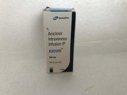 ACICLOVIR INTRAVENOUS INFUSION IP 500 MG
