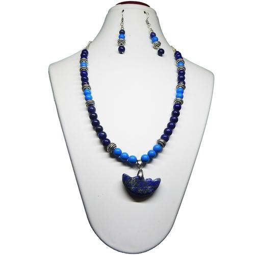 Gemstone Lapis Lazuli & Turquise beads necklace