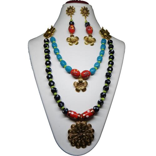 Lampwork Glass Beads Fancy Necklace