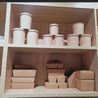 Brown paper tubs