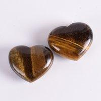 Tiger Eye Heart Shaped Stone