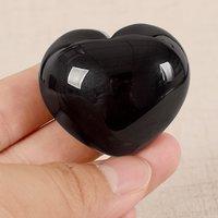 Black Quartz Hearts Shaped Stone