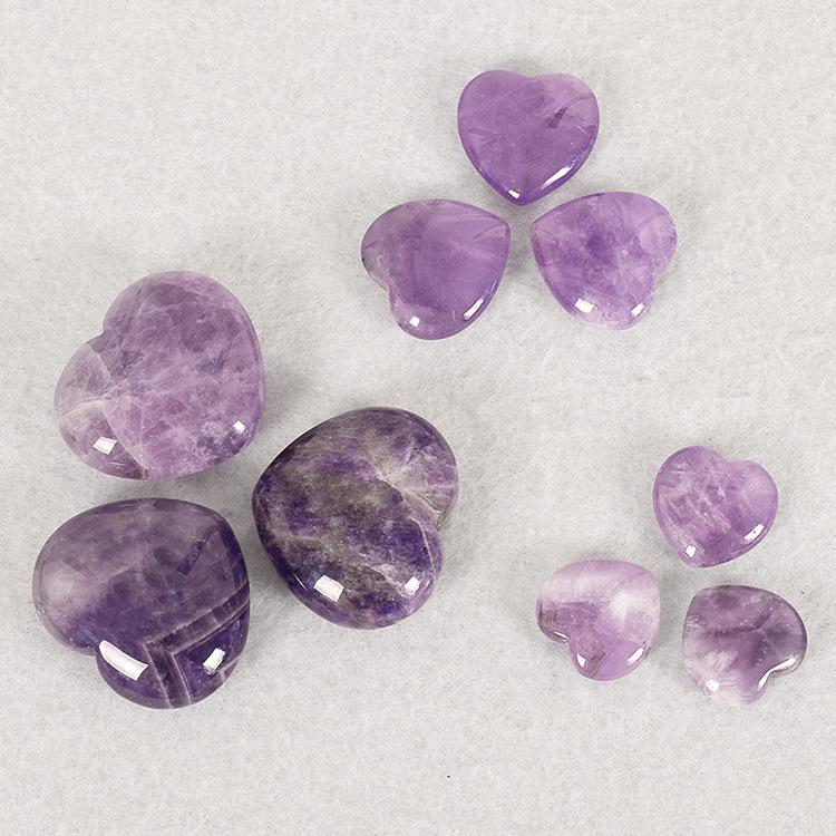 Amethyst Gemstone Heart Stone