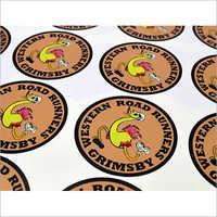 Screen Printed Circle Sticker