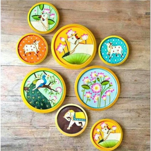 Pichwai Wood plates