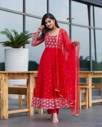 NEW DESIGNER  EMBROIDERED ANARKALI GOWN COLLECTION