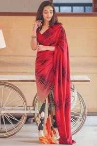 GEORGETTE WITH PRINT SAREE COLLECTION