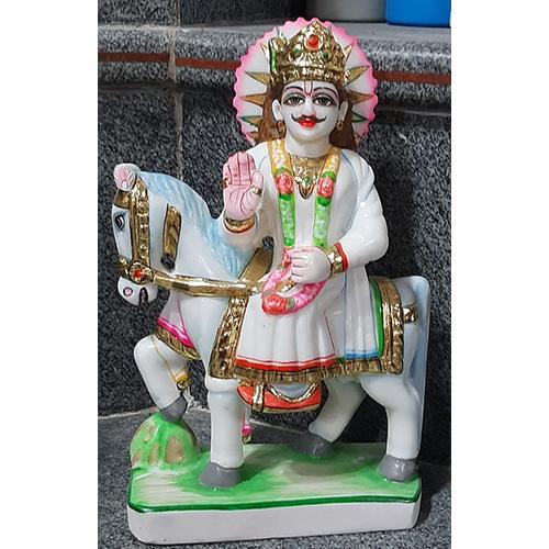 Marble Ram Dev Statue